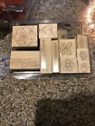TIME WELL SPENT STAMPIN UP 12 STAMPS WOOD MOUNTED RUBBER STAMPS MOST UNUSED EX