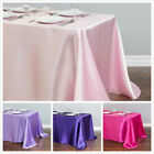 LinenTablecloth 90 x 156 in Rectangular Satin Tablecloth 32 Color Wedding Party