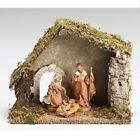 Roman Fontanini 3 Piece Christmas Nativity Set with Starter Stable 54710