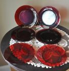 Vintage Anchor Hocking ROYAL RUBY RED Salad Lunch Plates Depression Glass 8