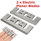 82mm New Blades 2x Electric Hss For Makita Steel Spare Planer 1900b Power Tool