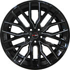 4 GWG 20 inch STAGGERED Black Mill FLARE Rims fits NISSAN 350Z 2002 2008