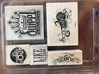 Stampin Up Wooden Stamp Set RETIRED Seriously Sassy RARE NEW