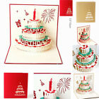 3D Pop Up Card Happy Birthday Cake Baby Gift Party Greeting Holiday Cards