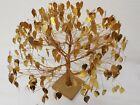 Vintage Original Dream Tree Twisted Metal Tree Sculpture Gold Leaves Home Decor