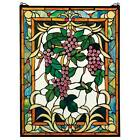 The Grape Vineyard Stained Glass Panel Tiffany Style Window Wine Grapes Fruit