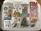 Scrapbooking Stickers Christmas Lot of 8 FREE SHIPPING