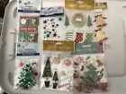 Scrapbooking Stickers Christmas Lot of 7 FREE SHIPPING
