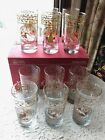 VINTAGE SET OF 12 DAYS OF CHRISTMAS ANCHOR HOCKING DRINKING GLASSES NEW IN BOX