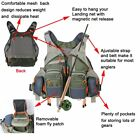 Men Fly Fishing Vest Outdoor Breathable Hunt Hike Fisherman Canoe Kayak UY