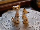 CUTE SET OF JAPAN PRETTY KITTY CATS SALT AND PEPPER SHAKERS w PAINTED FLOWERS