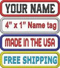 Custom Embroidered Name Tag Sew on Patch Motorcycle Biker Badge 4 x 1