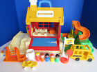Vintage Fisher Price Little People School House 2550 Bus Swing 100 Complete