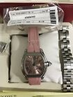 Ladies Cartier Roadster-Pink Dial w box/papers