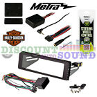 FOR 98 13 HARLEY TOURING RADIO INSTAL ADAPTER W THUMB CONTROL DASH KIT STEREO CD