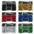 155pcs Universal Fairing Fastener Bolts Screws Kit M5 M6 Rivets Motorcycle Clips