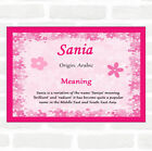 Sania Name Meaning Pink Certificate