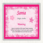 Sania Name Meaning Drinks Mat Coaster Pink