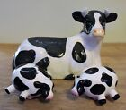 Cows Salt  Pepper Shakers W Cow