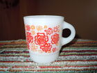 VINTAGE FIRE KING ANCHOR HOCKING FLOWER POWER CUP MUG RARE HTF C HANDLE