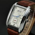 Men Rectangle Watches Leather Band Automatic Mechanical Watch Small Seconds GOER