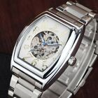 Goer Tonneau Automatic Mechanical Skeleton Watches Men Casual Business Watches