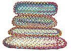 Antique Hand Braided Stair Runners Set of 10 27