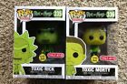 FUNKO POP RICK & MORTY SERIES TOXIC RICK & MORTY LOT 2 TARGET EXCLUSIVES