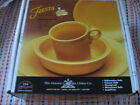 RETIRED Fiesta 4 or 5 pc place setting in MARIGOLD - NO BOX - 1st Quality