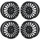 18 FORD FUSION BLACK WHEELS RIMS FACTORY OEM 2017 2018 2019 SET 4 10121