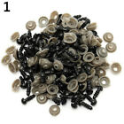 100x Black Plastic Toy Eyes Safety Diy 6-14mm For Teddy Bear Animal Dolls Us
