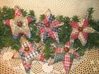 5 Country patchwork fabric Stars Bowl Fillers Wreath-making Handmade Home Decor