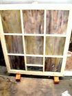 VINTAGE Antique STAINED GLASS WINDOWS FROM CHURCH rare 36 x 34 9 panel