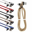 90 Degree Braided Heavy Duty Micro USB Fast Charging Cable For Samsung HTC LG