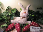 Handmade fabric Country Bunny Rabbit eggs bowl fillers Easter Home Decor