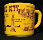 Vintage New York City Souvenir Federal Glass Coffee Cup Mug D Handle