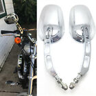 Chrome Motorcycle Mirrors For Harley Softail Springer FXSTSI FXSTS FXSTC FXST