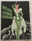 Nachts im grünen Kakadu Marika Rökk Dieter Borsche Vtg 1957 Danish Movie Program