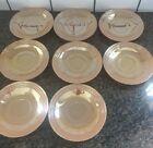 Anchor Hocking Fire King Peach Lustre Laurel 6 inch Plate - Set of 8 Vintage Euc