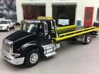 1 64 SPECCAST CUSTOM BLACK INTERNATIONAL 8600 ROLLBACK TOW TRUCK