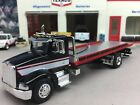 1 64 SPECCAST CUSTOM BLACK WHITE RED PETERBILT 385 ROLLBACK TOW TRUCK