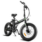 20 500W 7 Speed Folding Electric Bicycle LCD Display Fat Tire Lithium Battery