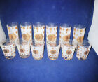 Mid Century Fred Press Atomic Starbust Eclipse Highball / Lowball Glass Set 12
