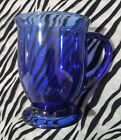 1 Anchor Hocking CAFE COBALT BLUE Glass Mug 5 inches tall