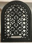 Ornate 1870s Antique Victorian Cast Iron Arched Gothic Heat Register Grate Front