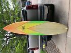 OLD CORKY COOL STICK SURF BOARD W RAINBOW FIN 7 FT 4 TALL CALIFORNIA