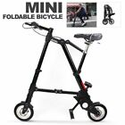A BIKE 8 Mini Lightweight Folding Bicycle With Carry Bag White Silver