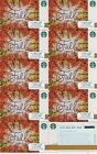 10 2017 ORIGINAL STARBUCKS GIFT CARD ~FALL CARD~ NO VALUE PIN NUMBER COVERED