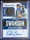 DANSBY SWANSON 2017 PANINI CHRONICLES BUTTON RELIC AUTO. NATURAL 1 1