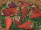 9 Primitive Strawberry bowl fillers cupboard tuck hanger ornie country folk art